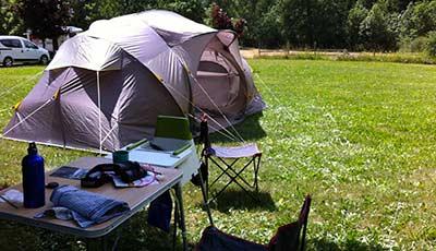 Tente et campement dans le Sud Ouest