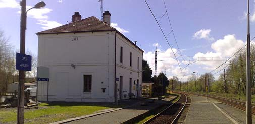 Gare d'Urt dans le Sud Ouest