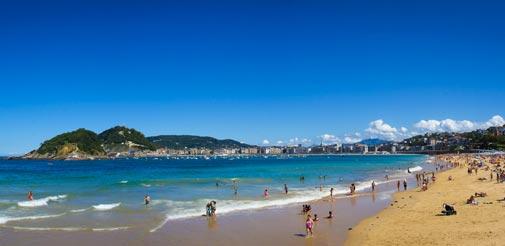 Les plages du Pays Basque Espagnol